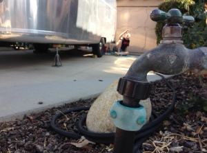 Garden hose critical to plumbing tests.
