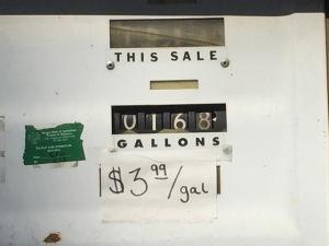 Gas, my budget nemesis