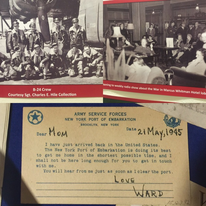 Jack told us about preprinted messages home like the one in the bottom of this pic. Easier to get past the censors! And it did take a while to get them home after the war had ended.
