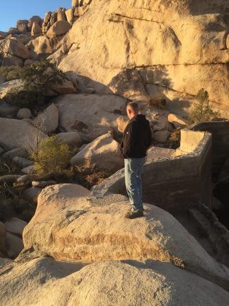 Ben Barker on top of Barker Dam